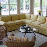 Custom sectional makes this sunny family room