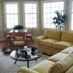 Bay front family room
